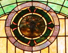 Mt Zion UMC Stained Glass Window Ramseur Family Closeup